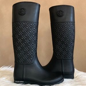 New✨Tory Burch Marion Quilted Rain Boots